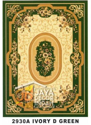 Karpet Permadani Kashan Istanbul 2930A Green Ivory