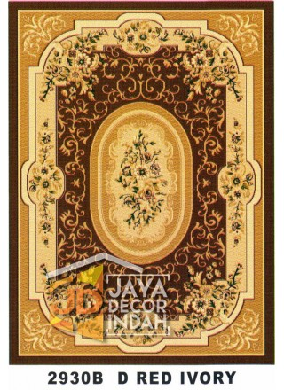 Karpet Permadani Kashan Istanbul 2930B Red Ivory