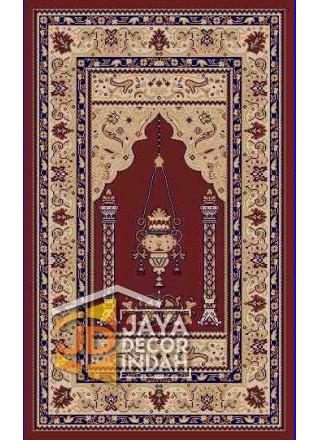 Akmal Imam Motif HSB-32A - Sajadah Imam / Masjid / Mushola / Karpet Lantai Permadani / Bulu