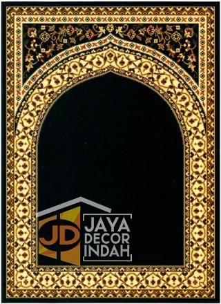 Cairo Imam Motif 1 Black - Sajadah Imam / Masjid / Mushola / Karpet Lantai Permadani / Bulu / Tebal 80 Cm X 120 Cm Polypropylene Pilar