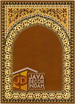 Cairo Imam Motif 1 Gold - Sajadah Imam / Masjid / Mushola / Karpet Lantai Permadani / Bulu / Tebal 80 Cm X 120 Cm Polypropylene Pilar