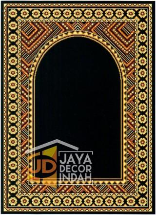Cairo Imam Motif 2 Black - Sajadah Imam / Masjid / Mushola / Karpet Lantai Permadani / Bulu / Tebal 80 Cm X 120 Cm Polypropylene