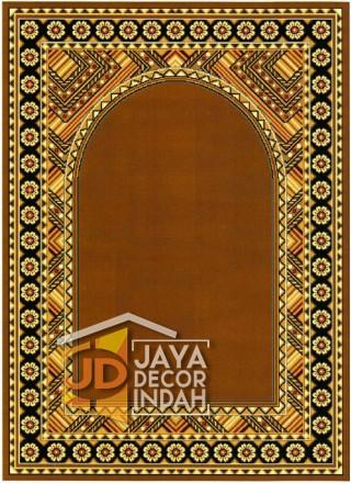 Cairo Imam Motif 2 Gold - Sajadah Imam / Masjid / Mushola / Karpet Lantai Permadani / Bulu / Tebal 80 Cm X 120 Cm Polypropylene