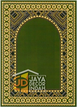 Cairo Imam Motif 2 Green - Sajadah Imam / Masjid / Mushola / Karpet Lantai Permadani / Bulu / Tebal 80 Cm X 120 Cm Polypropylene