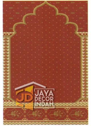 Karpet Sajadah Asma Red Motif Pilar Bintik 120x600, 120x1200, 120x1800, 120x2400, 120x3000