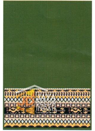 Karpet Sajadah Benazier Green Motif Polos 120x600, 120x1200, 120x1800, 120x2400
