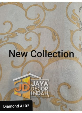 DIAMOND WALLPAPER KODE A102 DIAMOND COLLECTION Uk 0, 50 m x 10 m