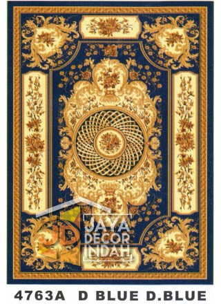 Karpet Permadani Kashan Istanbul 4763A Blue