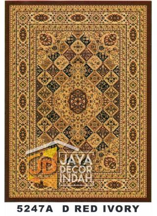 Karpet Permadani Kashan Istanbul 5247A Red Ivory