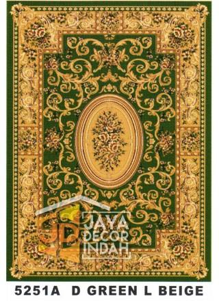 Karpet Permadani Kashan Istanbul 5251A Green L Beige