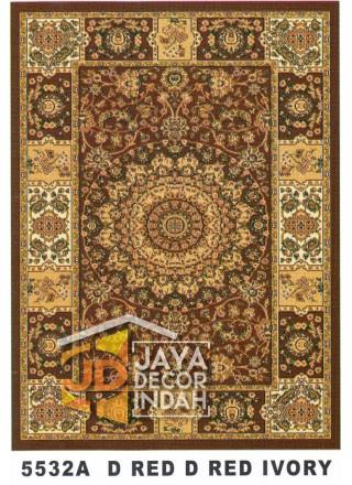 Karpet Permadani Kashan Istanbul 5532A Red Ivory