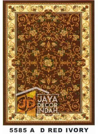 Karpet Permadani Kashan Istanbul 5585A Red Ivory