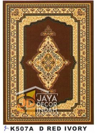 Karpet Permadani Kashan Istanbul K507A Red Ivory