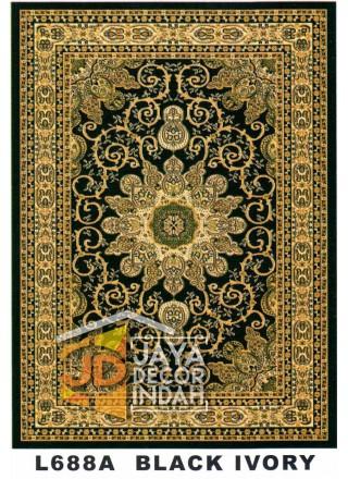 Karpet Permadani Kashan Istanbul L688A Black Ivory