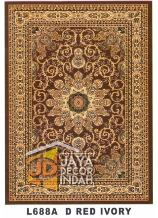Karpet Permadani Kashan Istanbul L688A Red Ivory