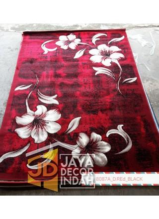 Karpet Permadani Khasan Carving 8087A_D Red Black 120x160, 160x230, 200x300, 240x340