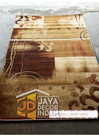 Karpet Permadani Khasan Carving 9336A_L Beige 120x160, 160x230, 200x300, 240x340