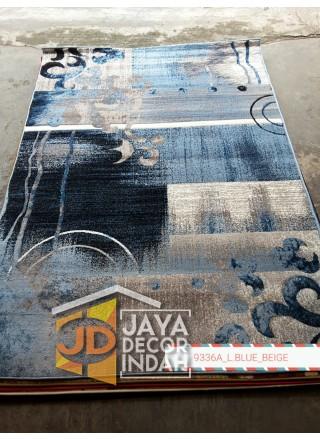 Karpet Permadani Khasan Carving 9336A_L Blue Beige 120x160, 160x230, 200x300, 240x340