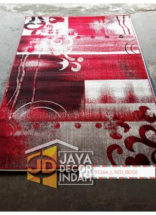 Karpet Permadani Khasan Carving 9336A_L Red Beige 120x160, 160x230, 200x300, 240x340