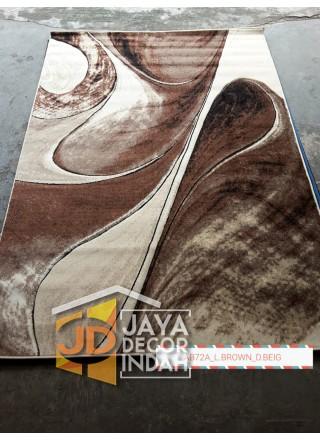 Karpet Permadani Khasan Carving AB72A_L Brown 120x160, 160x230, 200x300, 240x340
