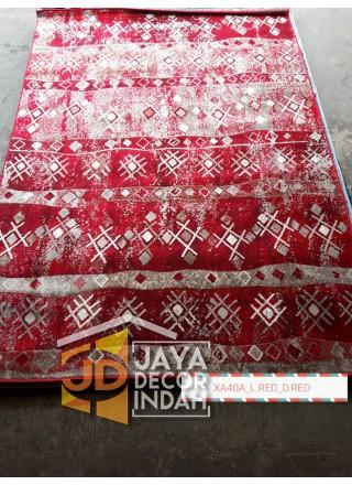 Karpet Permadani Khasan Carving XA40A_L Red 120x160, 160x230, 200x300, 240x340