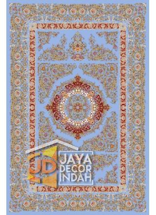 Karpet Permadani Solomon 1200 Reeds ALBORZ BLUE ukuran 150x225, 200x300, 250x350, 300x400