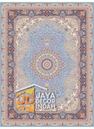 Karpet Permadani Solomon 1200 Reeds FARVAH BLUE ukuran 150x225, 200x300, 250x350, 300x400