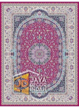 Karpet Permadani Solomon 1200 Reeds KASHAN RED ukuran 150x225, 200x300, 250x350, 300x400