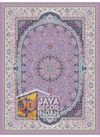 Karpet Permadani Solomon 1200 Reeds KASHAN VIOLET ukuran 150x225, 200x300, 250x350, 300x400