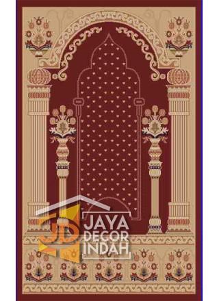 Akmal Imam Motif HSC-63A - Sajadah Imam / Masjid / Mushola / Karpet Lantai Permadani / Bulu