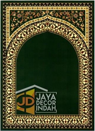Cairo Imam Motif 1 Green - Sajadah Imam / Masjid / Mushola / Karpet Lantai Permadani / Bulu / Tebal 80 Cm X 120 Cm Polypropylene Pilar