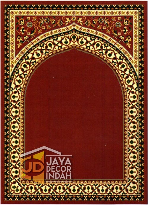 Cairo Imam Motif 1 Red - Sajadah Imam / Masjid / Mushola / Karpet Lantai Permadani / Bulu / Tebal 80 Cm X 120 Cm Polypropylene Pilar