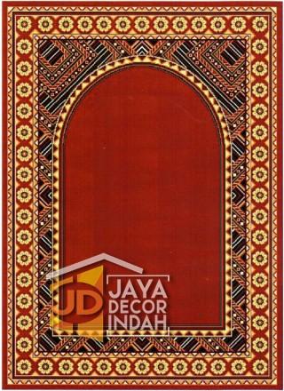 Cairo Imam Motif 2 Red - Sajadah Imam / Masjid / Mushola / Karpet Lantai Permadani / Bulu / Tebal 80 Cm X 120 Cm Polypropylene