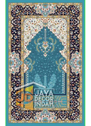 Shah Palace Imam S034C YAC15 442 TURQUOISE - Sajadah Imam / Masjid / Mushola / Karpet Lantai Permadani / Bulu