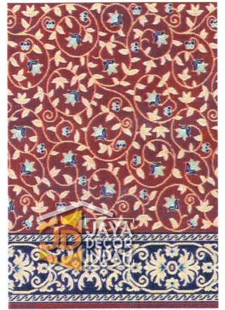 Karpet Sajadah Akmal Motif Bunga / Batik 120x600, 120x1200