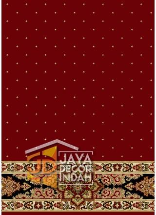 Karpet Sajadah New Asma Red 1034R Motif Bintik 120x600, 120x1200, 120x1800, 120x2400, 120x3000