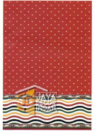 Karpet Sajadah Benazier Red Motif Bintik 120x600, 120x1200, 120x1800, 120x2400