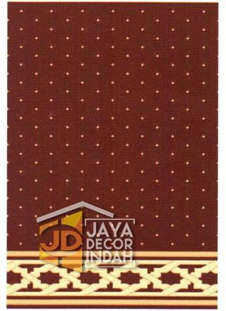 Karpet Sajadah Bristol Red Motif Bintik 120x600, 120x1200, 120x1800, 120x2400, 120x3000