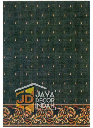 Karpet Sajadah ISTANBUL ZAM-ZAM Green Motif Bintik 120x600, 120x1200, 120x1800, 120x2400, 120x3000