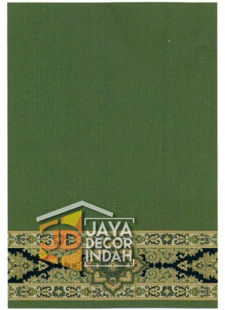Karpet Sajadah Royal Mosque Green Motif Polos 120x600 dan 120x1200