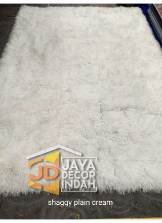 Karpet Shaggy Goldsun Plain Cream 150x200, 160x230, 200x300, 240x340