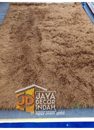Karpet Shaggy Goldsun Plain Gold 150x200, 160x230, 200x300, 240x340