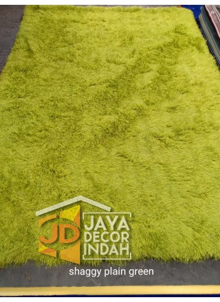 Karpet Shaggy Goldsun Plain Green 150x200, 160x230, 200x300, 240x340