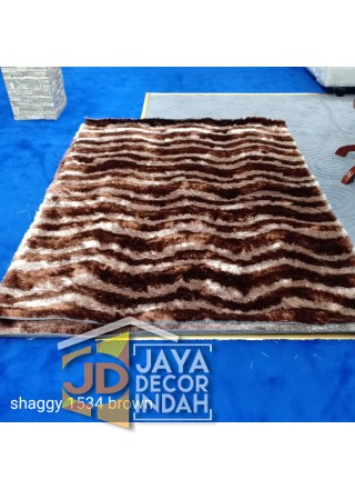 Karpet Shaggy Veronica 1534 Brown Ukuran 100x150, 150x200, 200x300