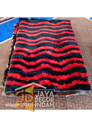Karpet Shaggy Veronica 1534 Red Ukuran 100x150, 150x200, 200x300