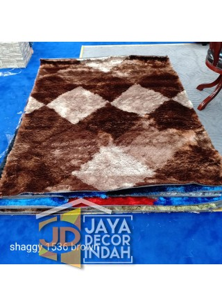 Karpet Shaggy Veronica 1536 Brown ukuran 100x150, 150x200, 200x300