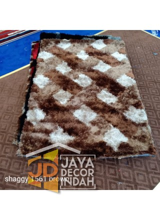 Karpet Shaggy Veronica 1561 Brown Ukuran 100x150, 150x200, 200x300
