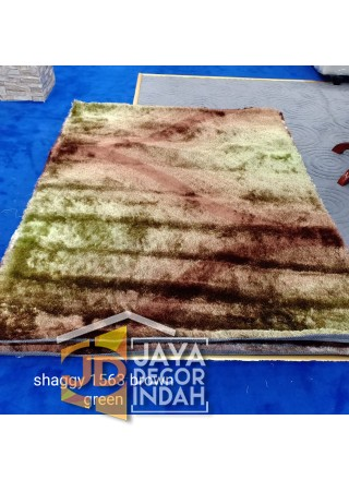 Karpet Shaggy Veronica 1563 Brown Green Ukuran 100x150, 150x200, 200x300