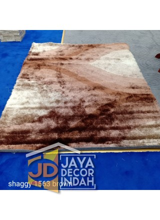 Karpet Shaggy Veronica 1563 Brown Ukuran 100x150, 150x200, 200x300