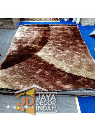 Karpet Shaggy Veronica 1564 Brown Ukuran 100x150, 150x200, 200x300